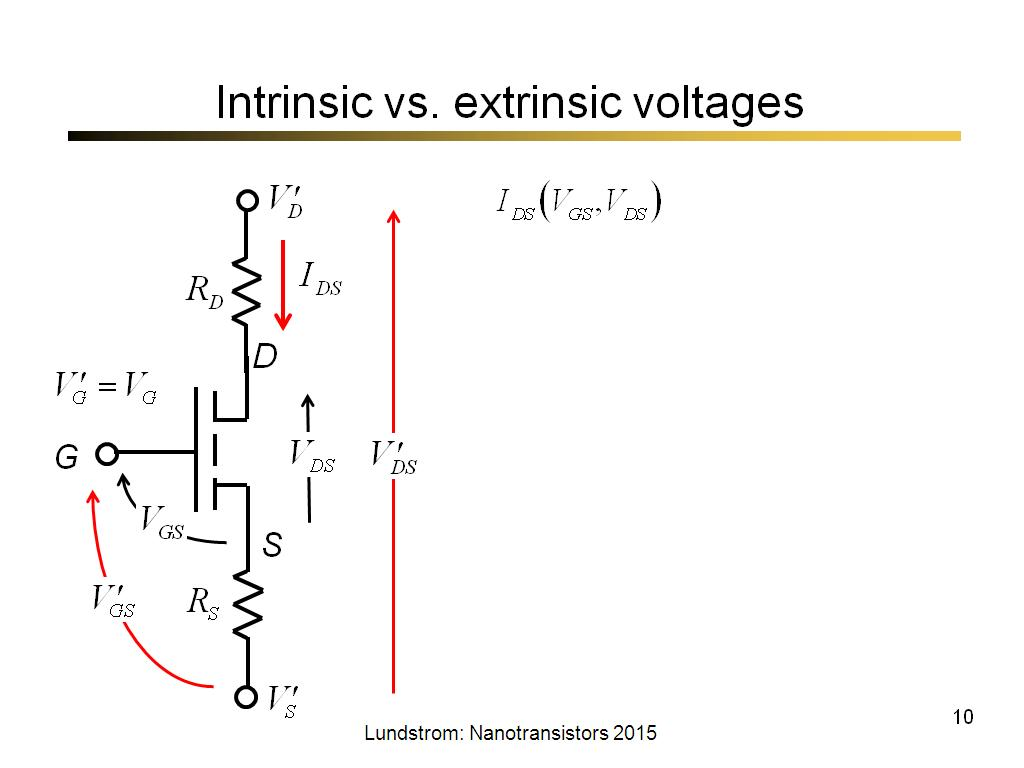 Intrinsic vs. extrinsic voltages