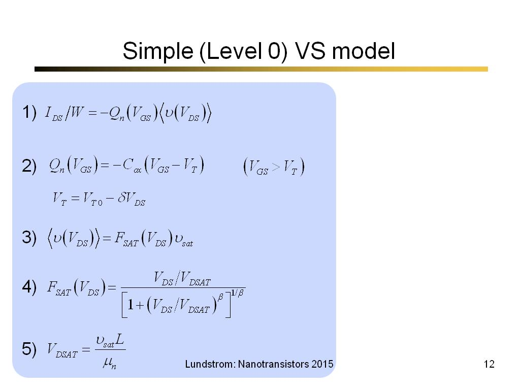 Simple (Level 0) VS model