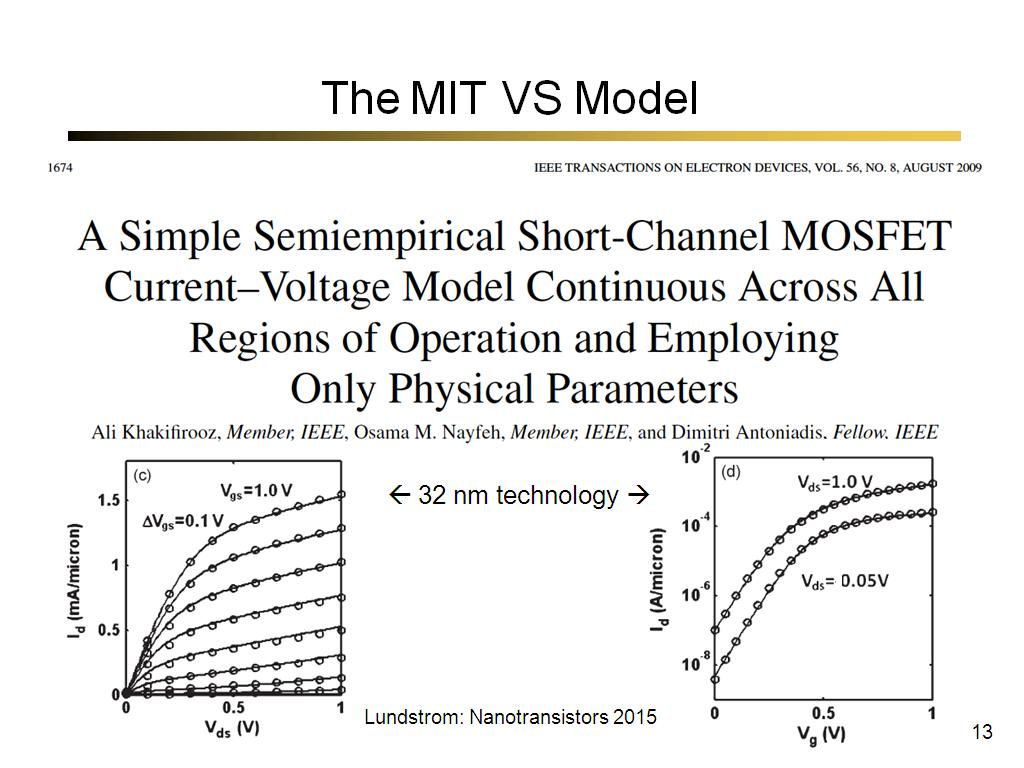 The MIT VS Model