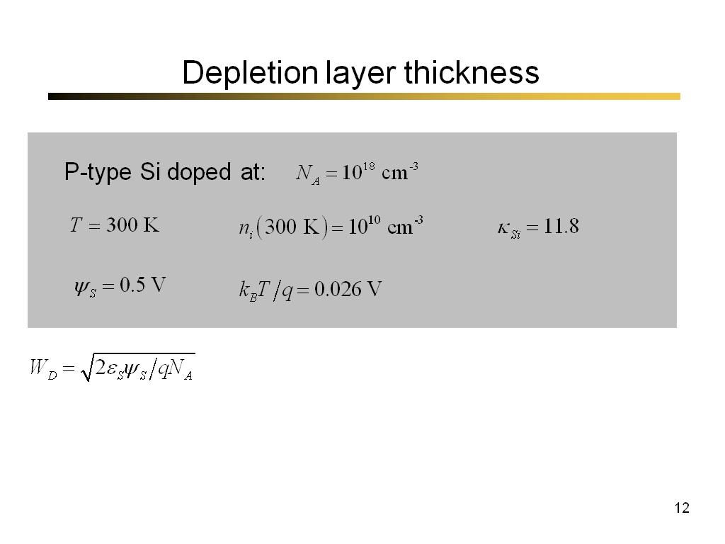 Depletion layer thickness