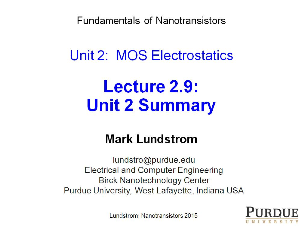 Lecture 2.9: Unit 2 Summary