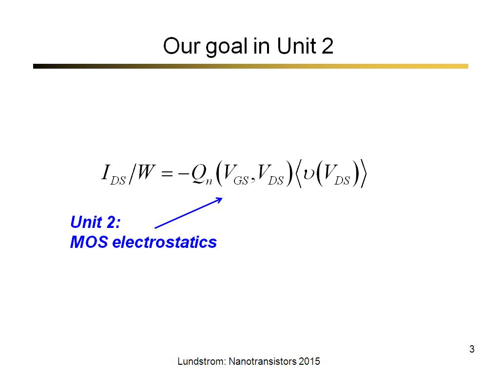 Our goal in Unit 2