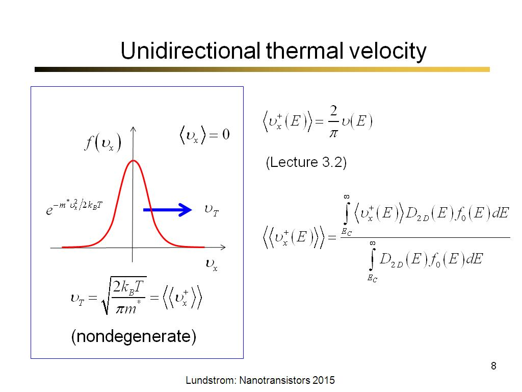 Unidirectional thermal velocity