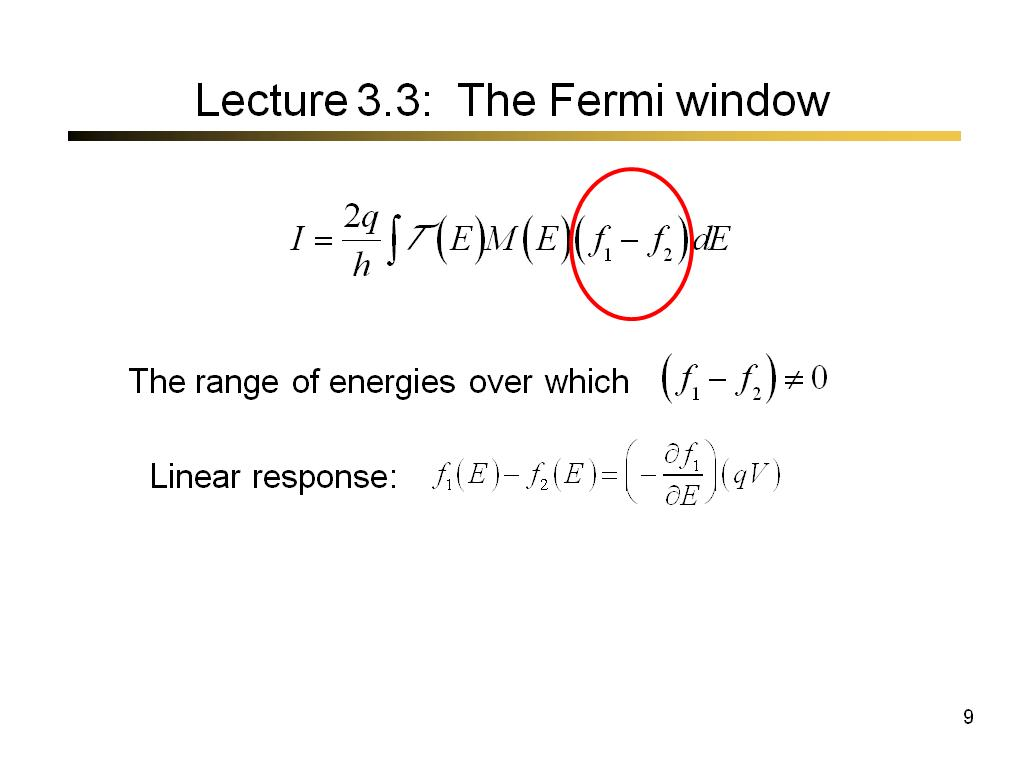 Lecture 3.3: The Fermi window