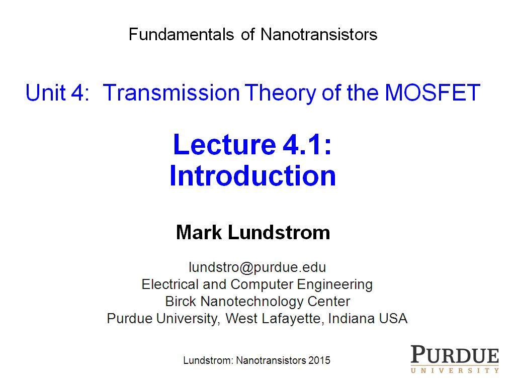 Lecture 4.1: Introduction