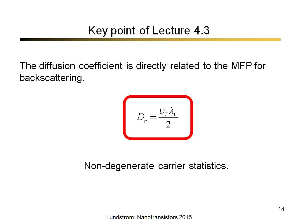 Key point of Lecture 4.3