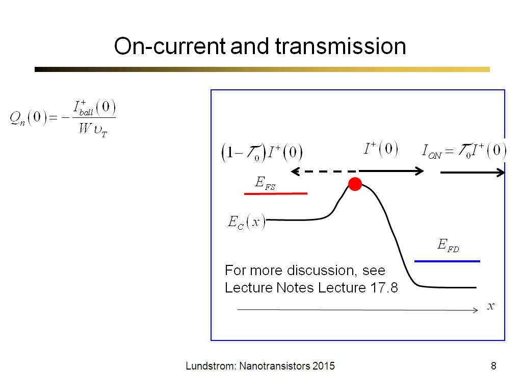 On-current and transmission