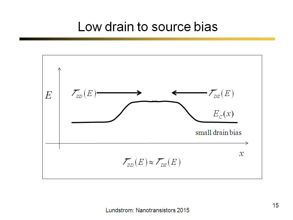 Low drain to source bias