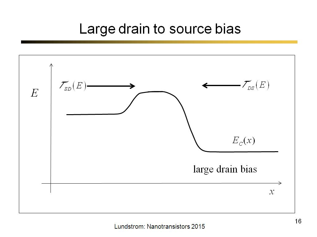 Large drain to source bias