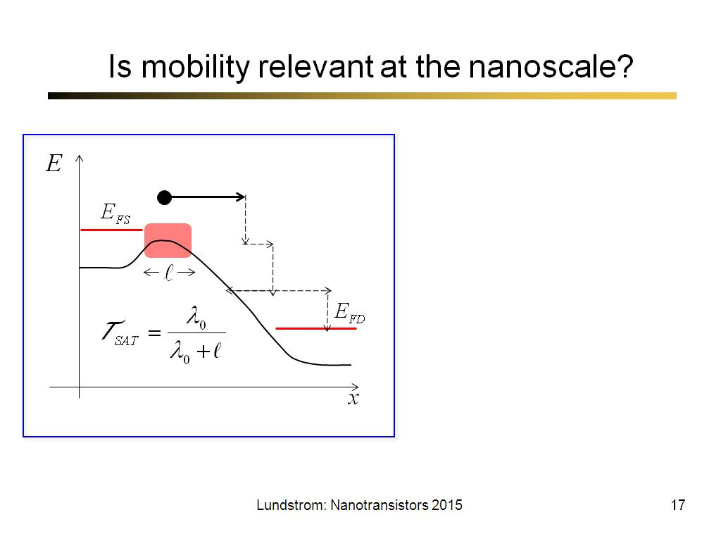 Is mobility relevant at the nanoscale?