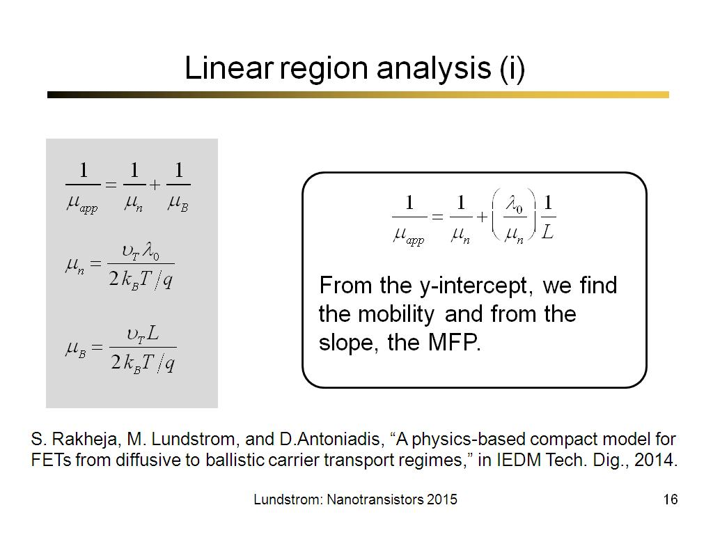 Linear region analysis (i)