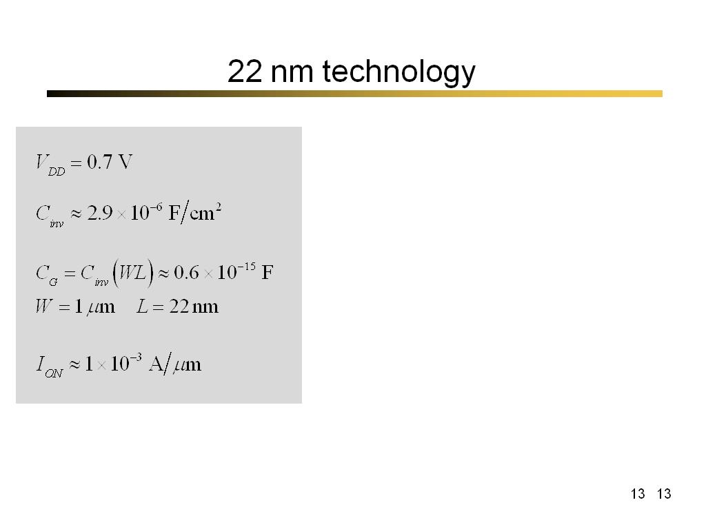 22 nm technology