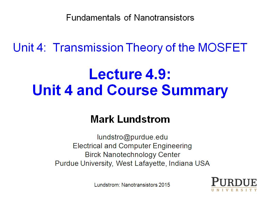 Lecture 4.9: Unit 4 and Course Summary