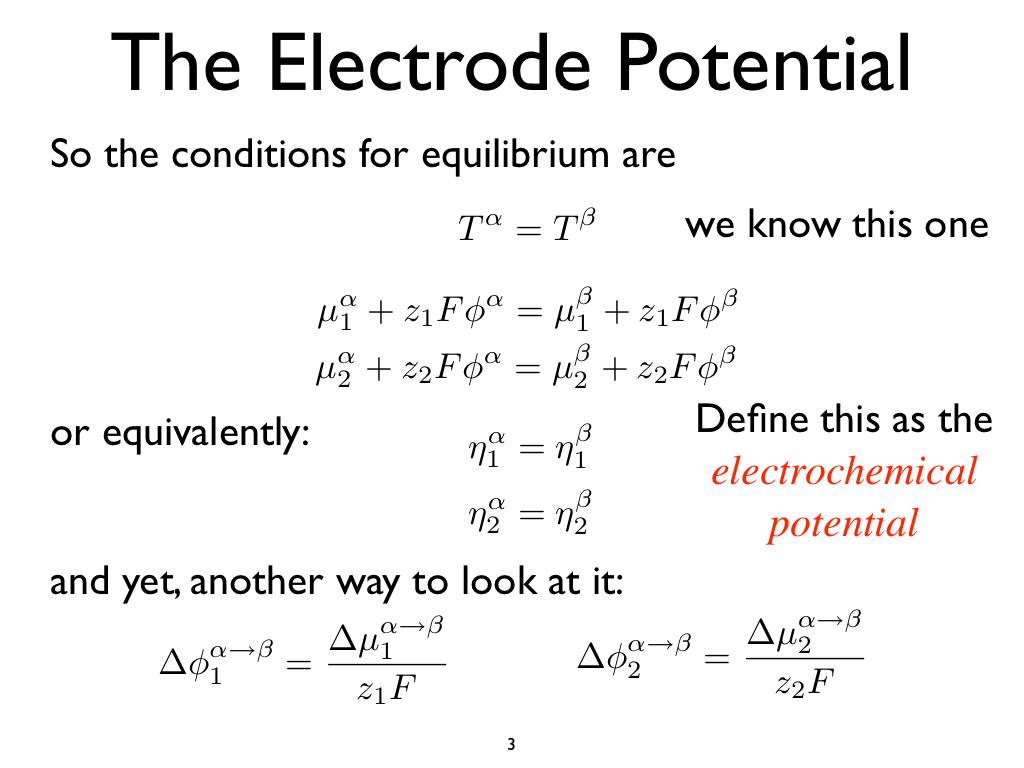 The Electrode Potential