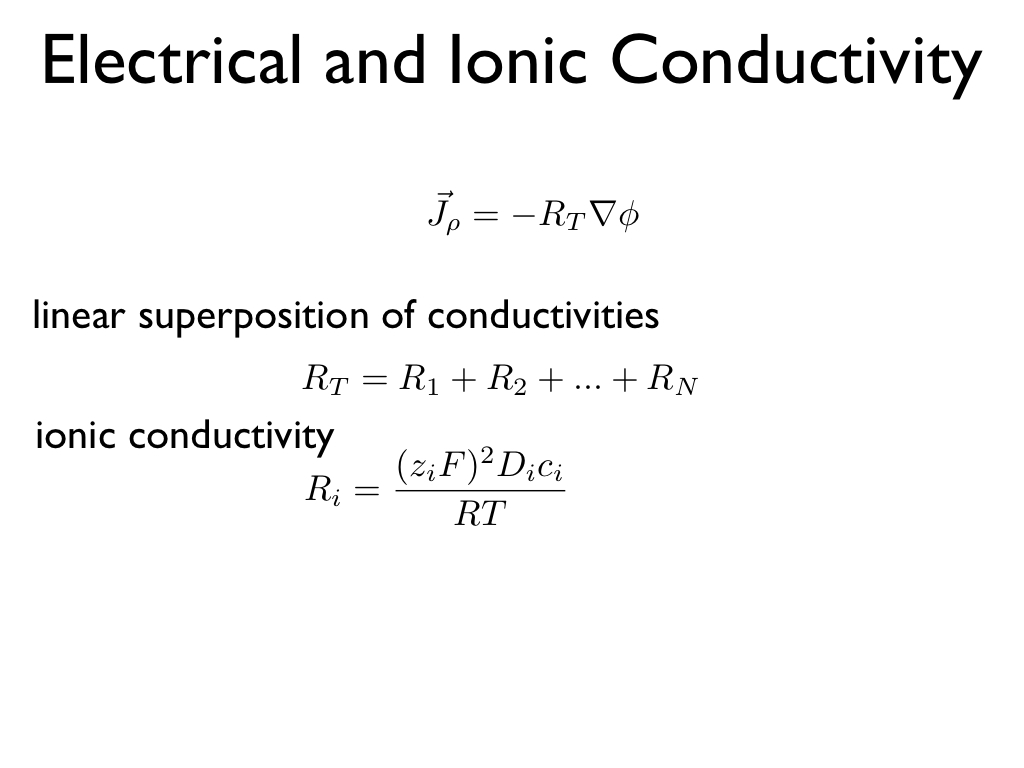Electrical and Ionic Conductivity