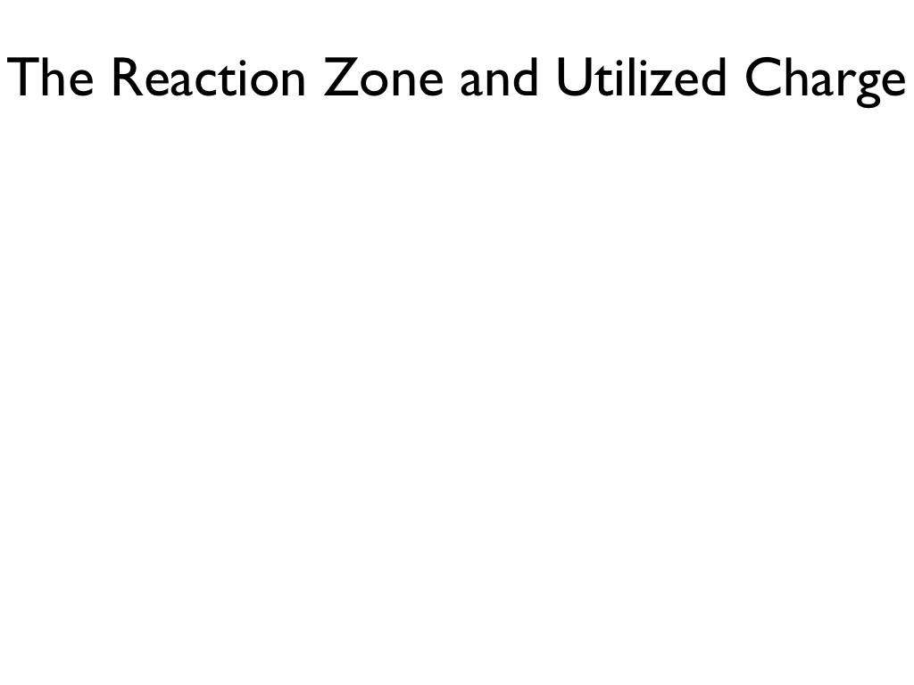 The Reaction Zone and Utilized Charge