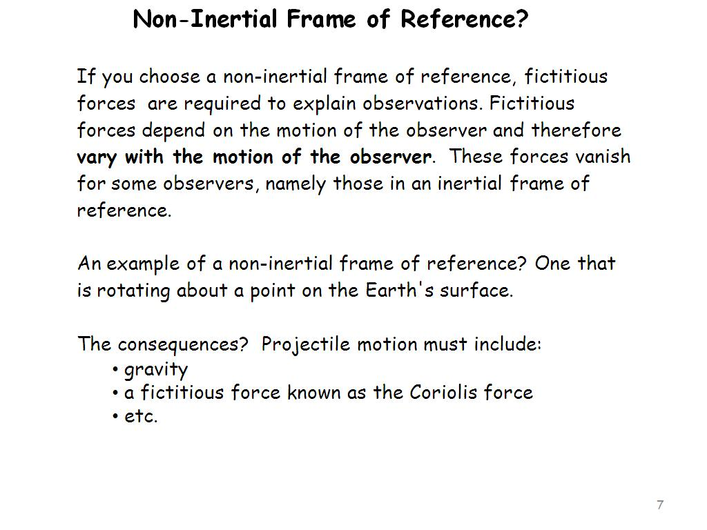 Non-inertial frame of reference: definition, examples 13