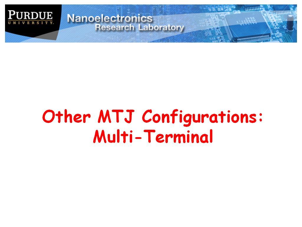 lecture 7 4: mtj configurations