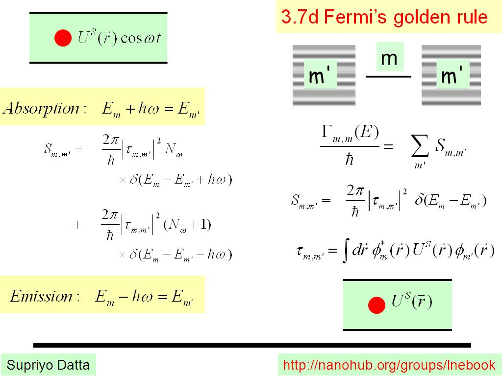 3.7d Fermi's golden rule