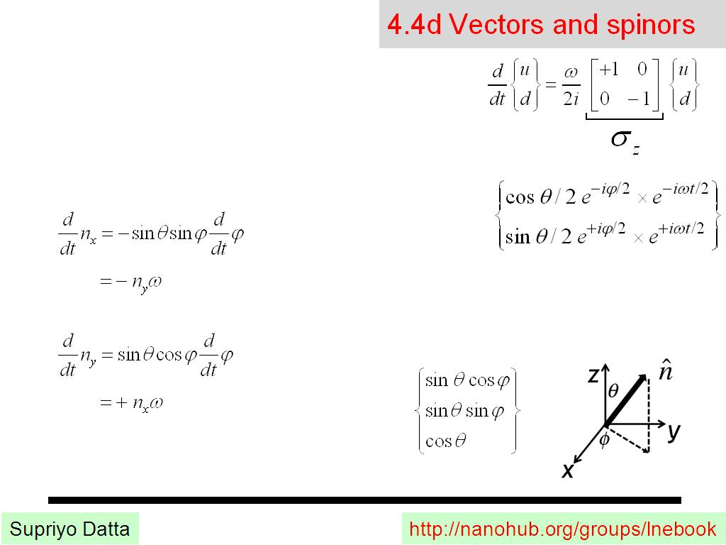 4.4d Vectors and spinors