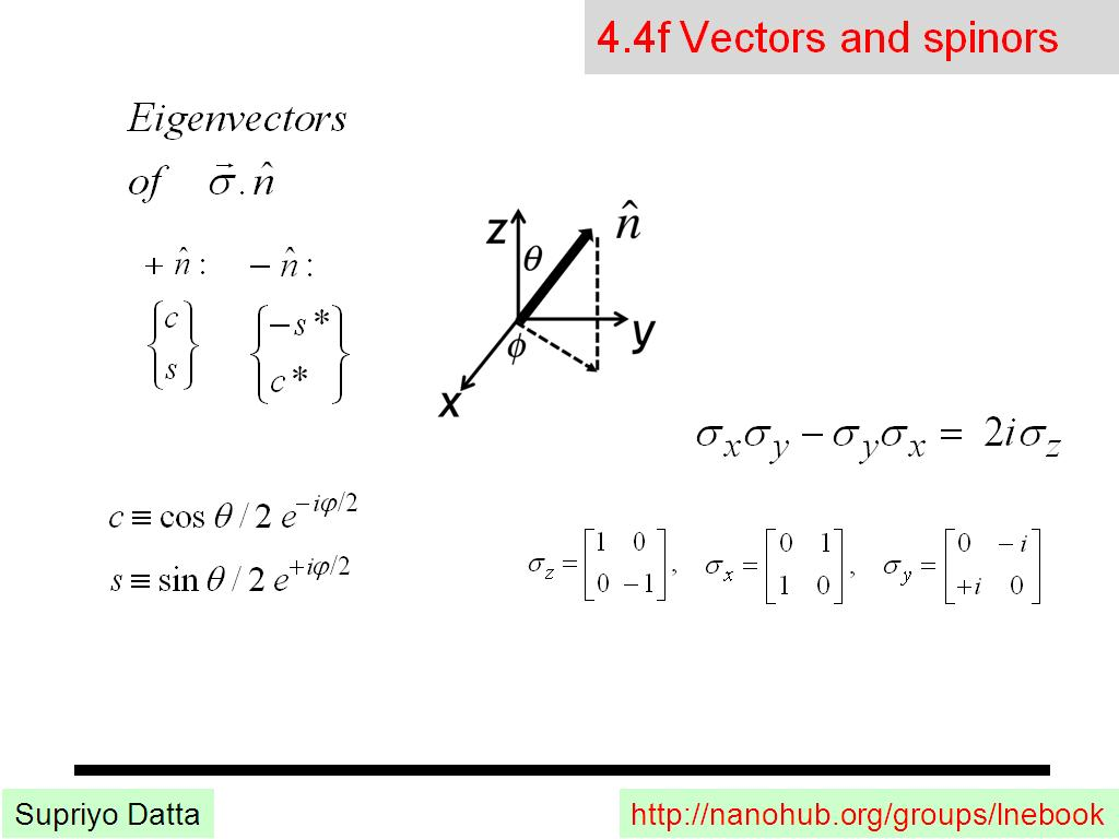 4.4f Vectors and spinors