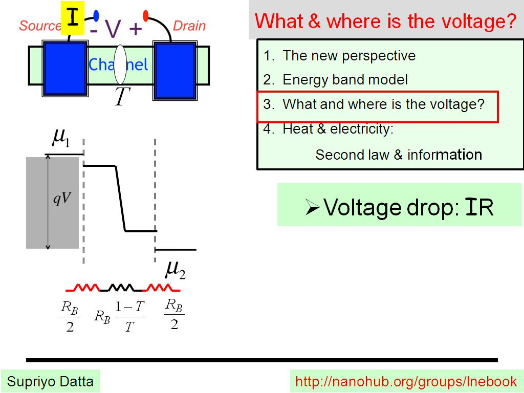 What & where is the voltage?
