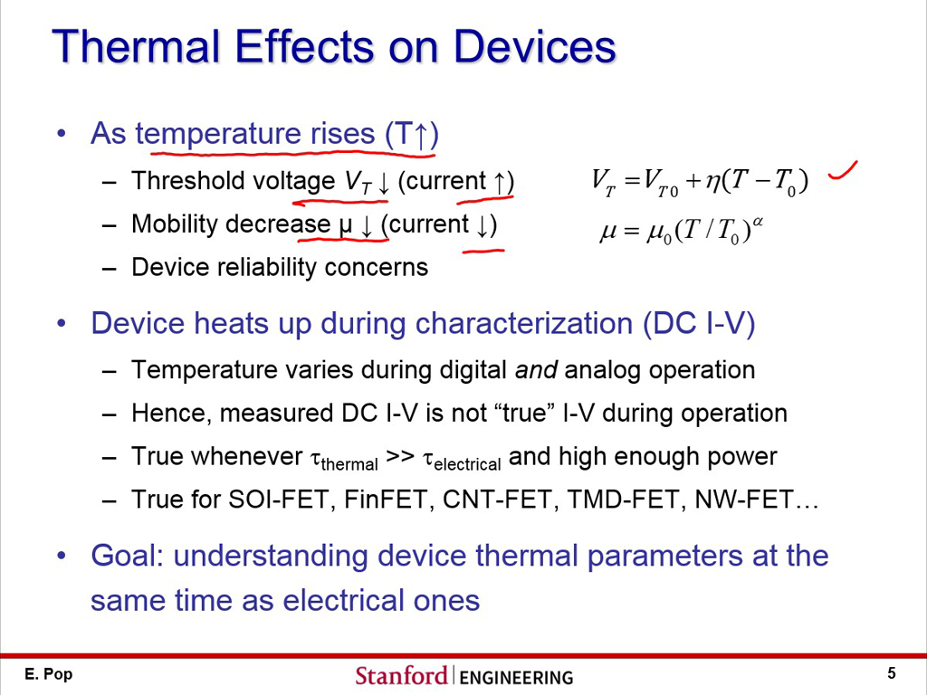 Thermal Effects on Devices