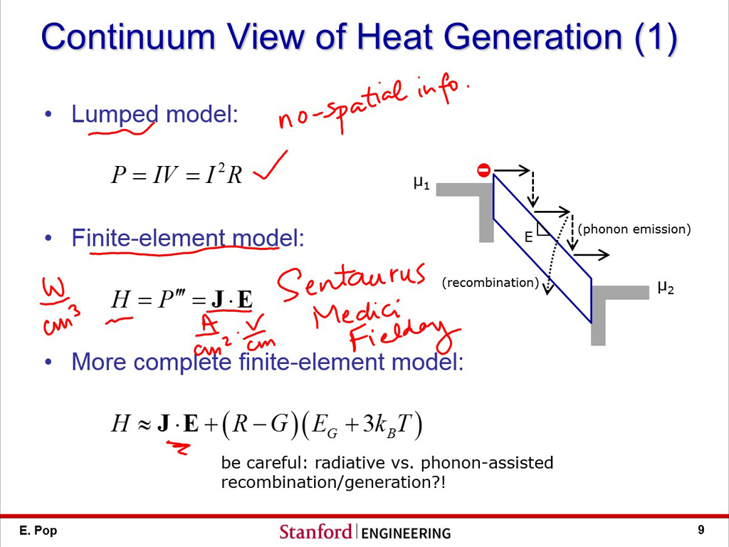 Continuum View of Heat Generation (1)