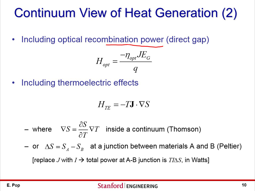 Continuum View of Heat Generation (2)