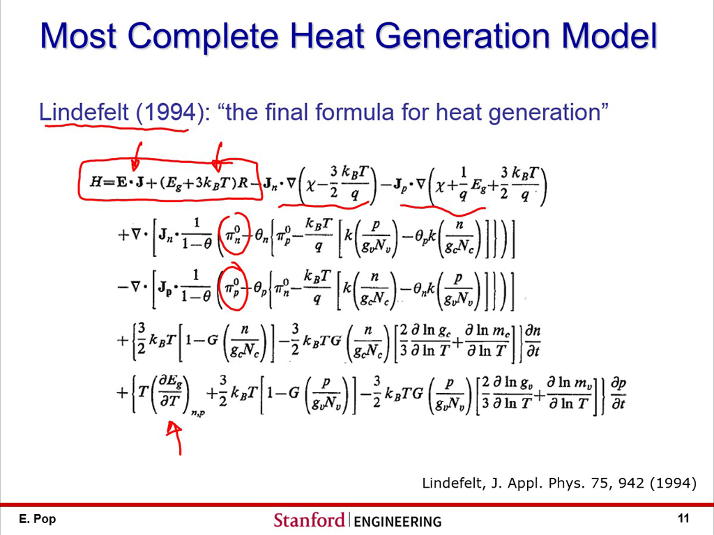 Most Complete Heat Generation Model