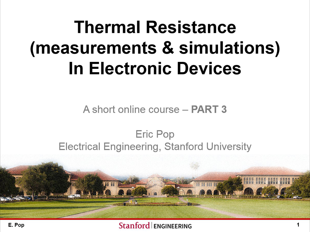Part 3: Thermal Resistance and Estimates