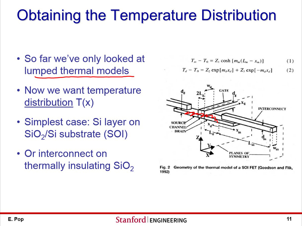 Obtaining the Temperature Distribution