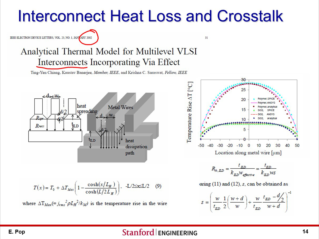 Interconnect Heat Loss and Crosstalk
