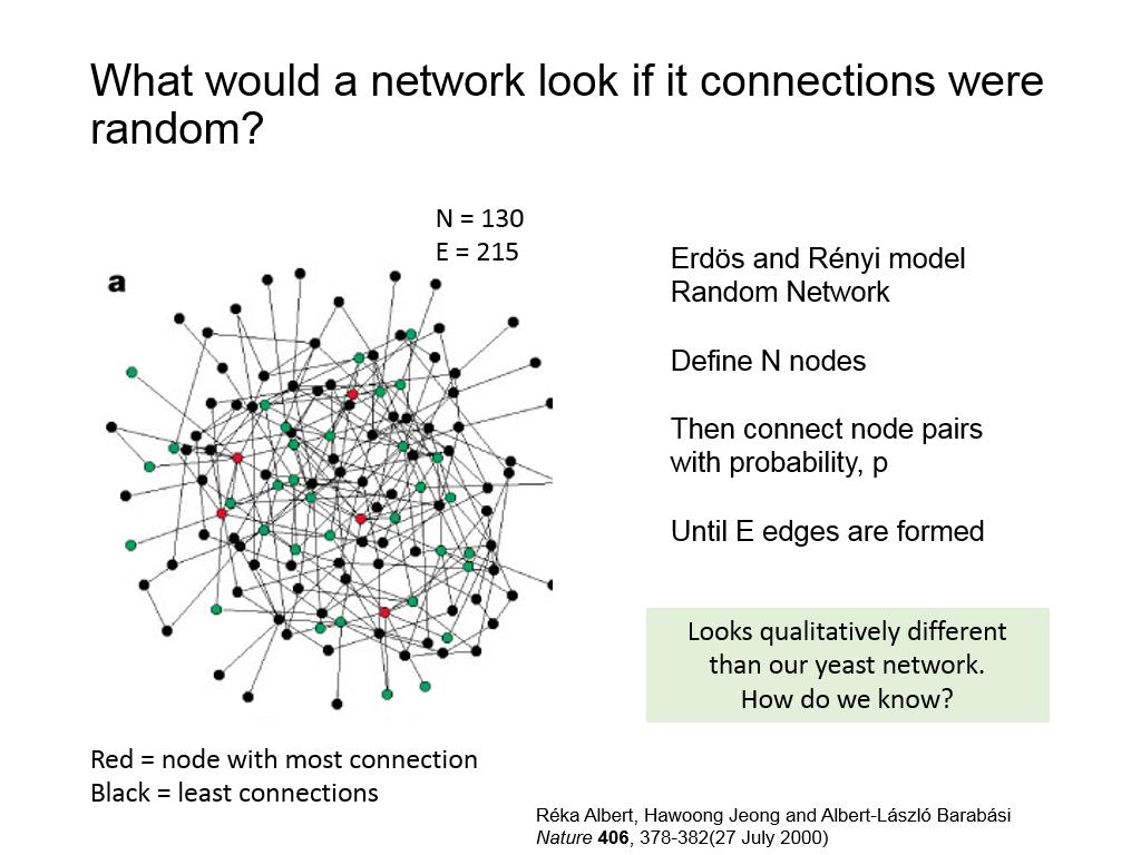 What would a network look if it connections were random?