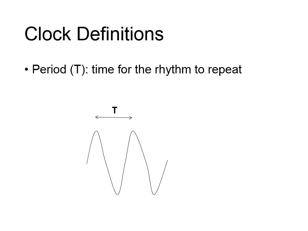 Clock Definitions