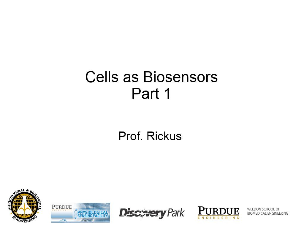 L5.2: Cells as Biosensors I
