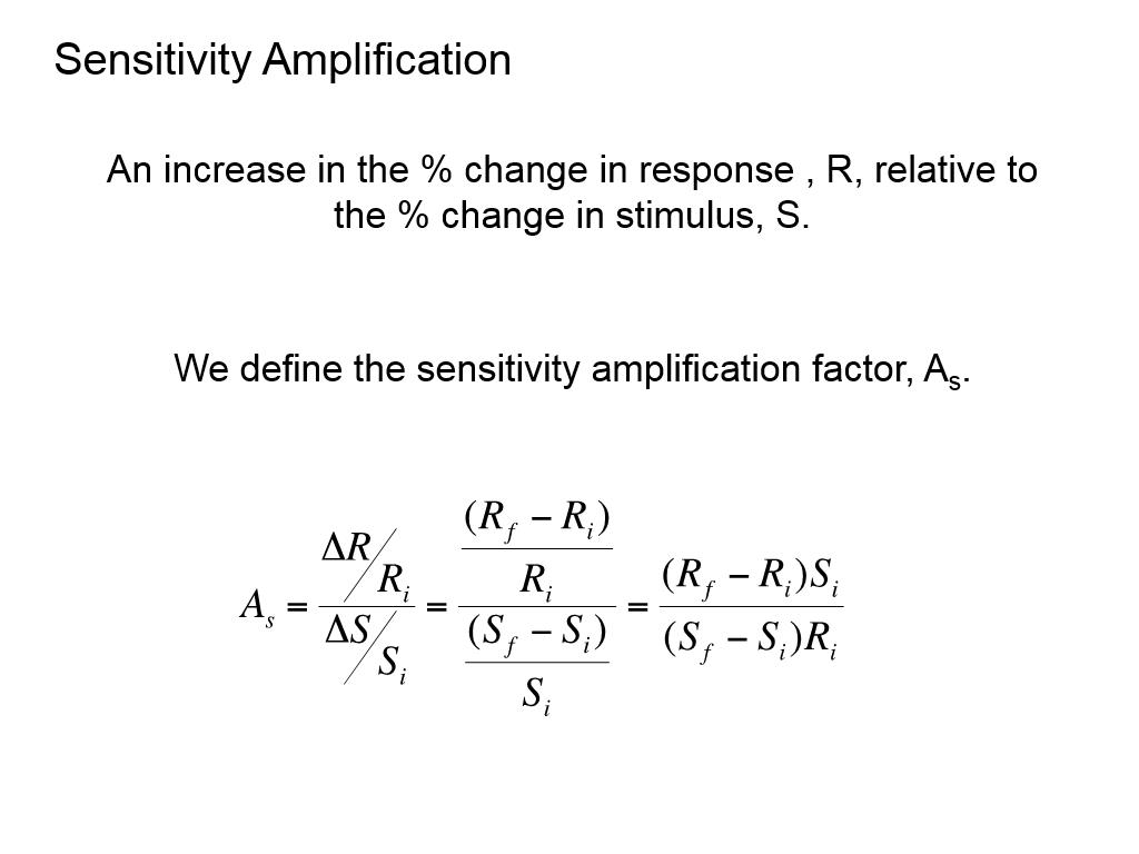 Sensitivity Amplification