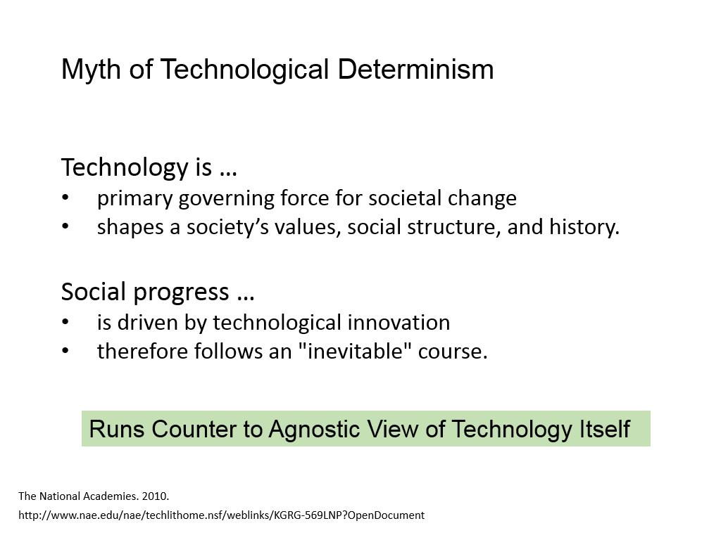 Myth of Technological Determinism