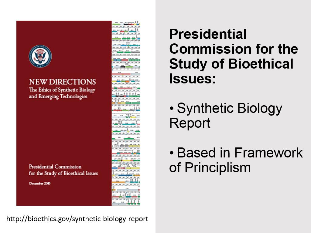 Presidential Commission for the Study of Bioethical Issues: