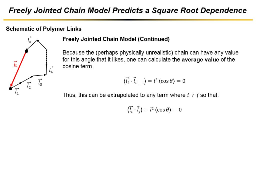 Freely Jointed Chain Model Predicts a Square Root Dependence