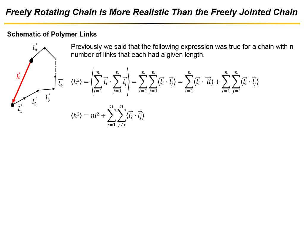 Freely Rotating Chain is More Realistic Than the Freely Jointed Chain