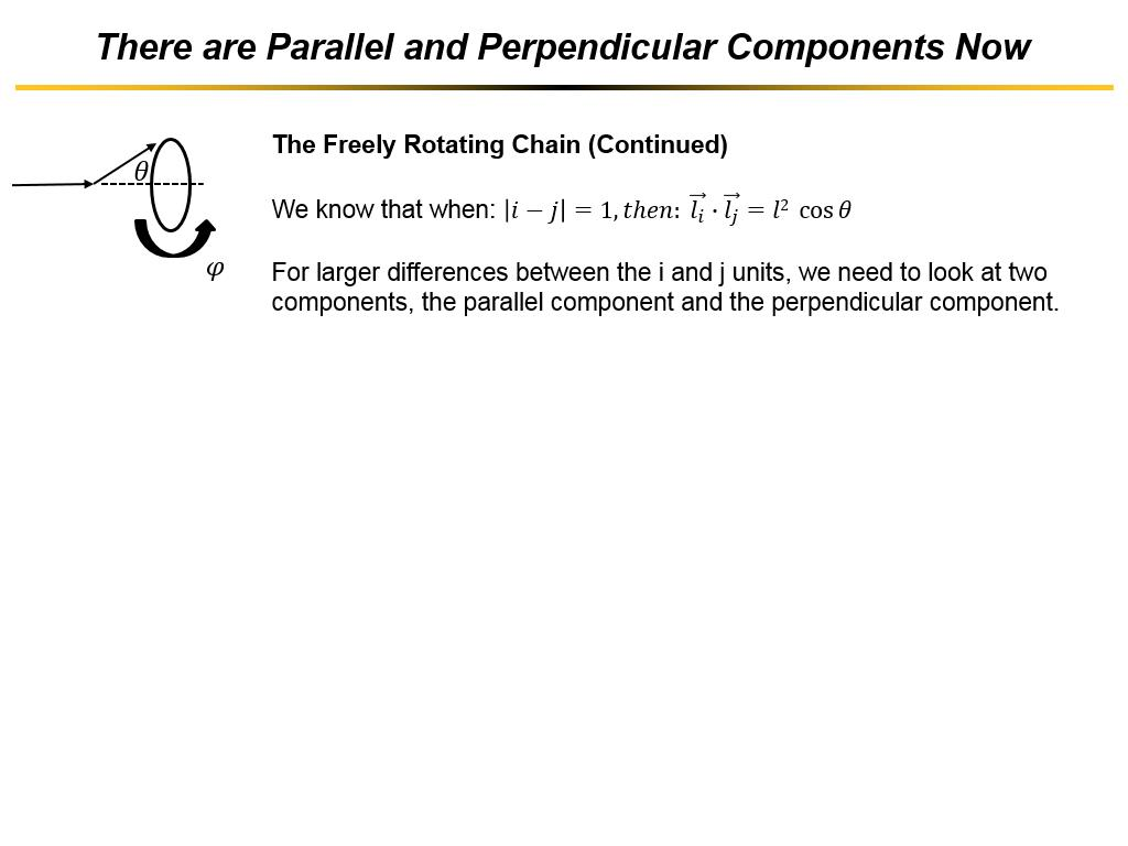 There are Parallel and Perpendicular Components Now