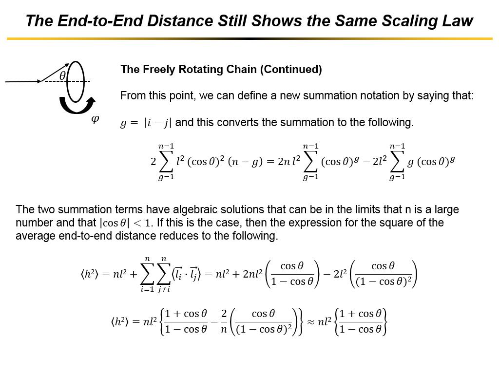 The End-to-End Distance Still Shows the Same Scaling Law