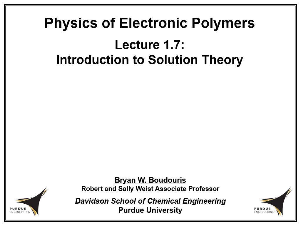 Lecture 1.7: Introduction to Solution Theory