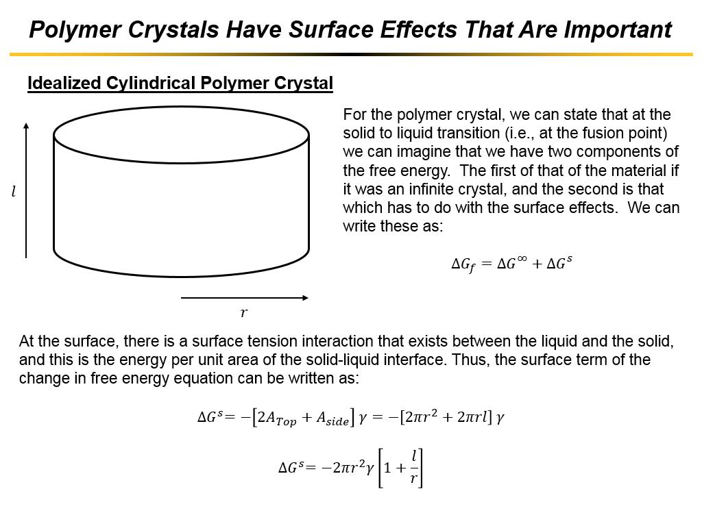 Polymer Crystals Have Surface Effects That Are Important