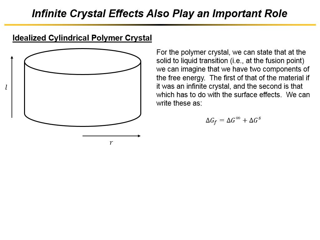 Infinite Crystal Effects Also Play an Important Role