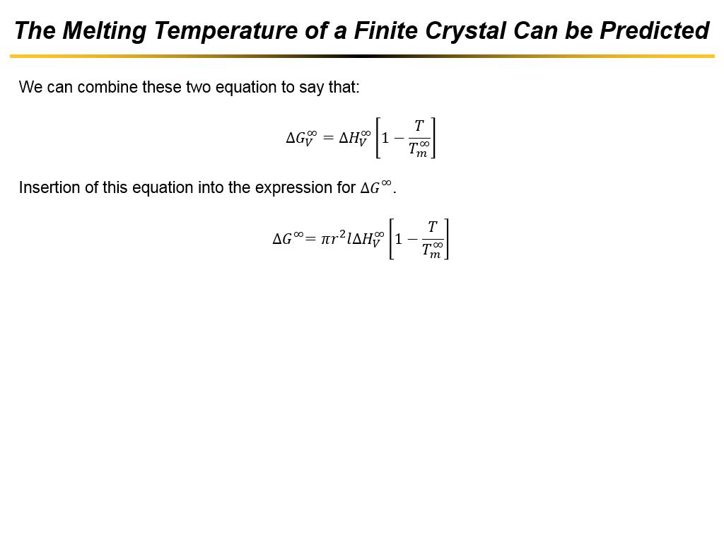 The Melting Temperature of a Finite Crystal Can be Predicted