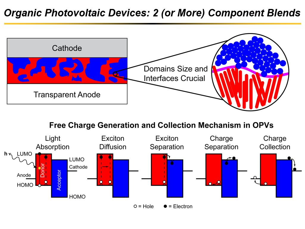 Organic Photovoltaic Devices: 2 (or More) Component Blends