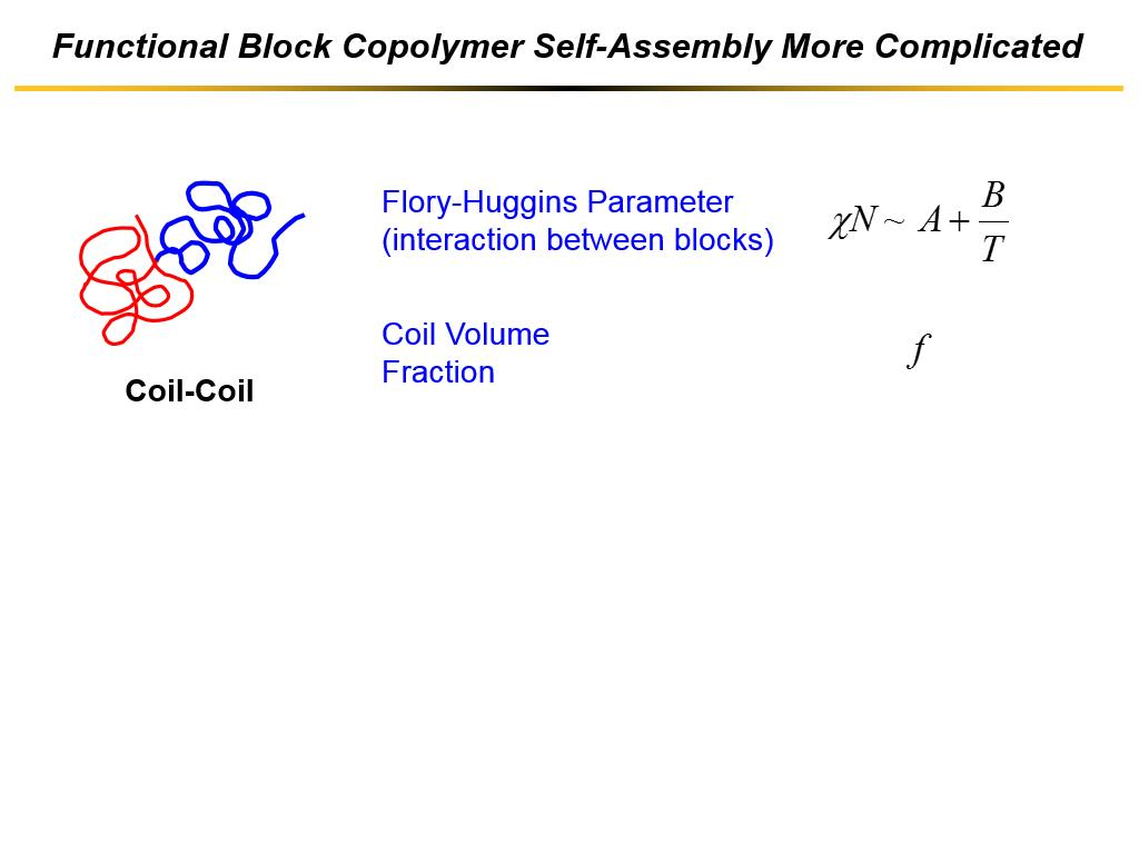 Functional Block Copolymer Self-Assembly More Complicated