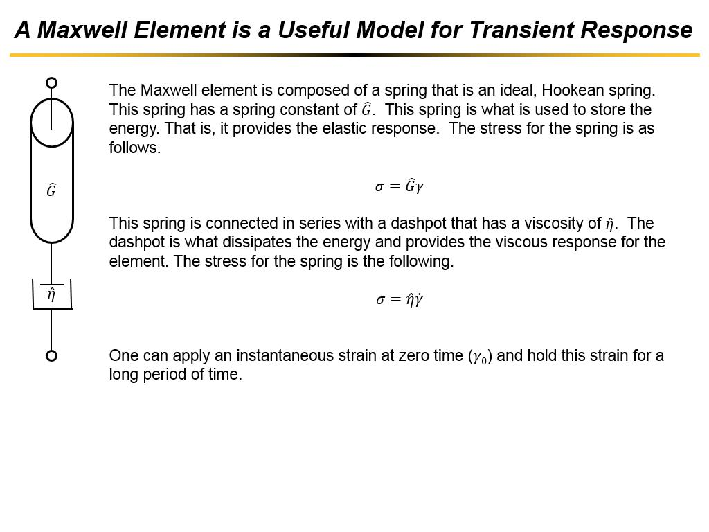 A Maxwell Element is a Useful Model for Transient Response